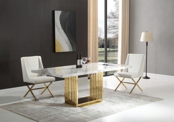 athena-guld-matbord-inkl-madison-vit-stol