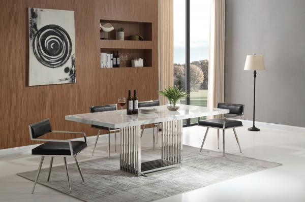 athena-silver-matbord-inkl-leah-svart-stol