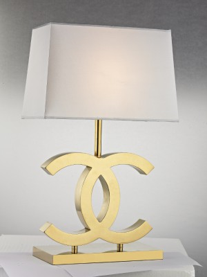 Chanel Guld Vit – Bordslampa