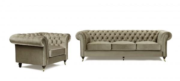 Chesterfield Soffa Brun 3,5 sits