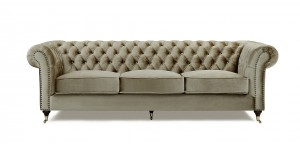 Chesterfield Soffa Brun 3,5 sits