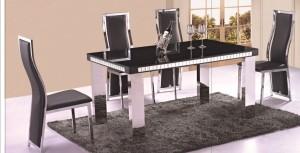 Elegance Svart - Matgrupp inkl. 4 stolar