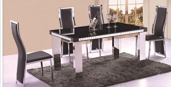 Elegance Svart – Matgrupp inkl. 4 stolar