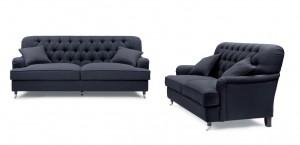 Howard Style 3,5 + 2,5 Mörkgrå - Tygsoffa