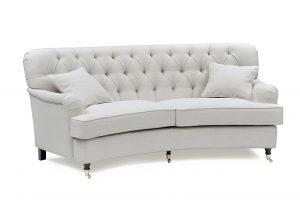 Howard Style 3,5 Sits Svängd Off White - Tygsoffa
