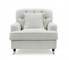 Howard Style Fåtölj Off White - Tygsoffa