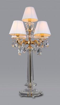 Kandelaber Guld Kristall – Bordslampa