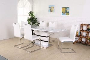 Madrid Matbord + 6 stolar Koeln Vit