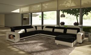 Modern Höger - U-soffa