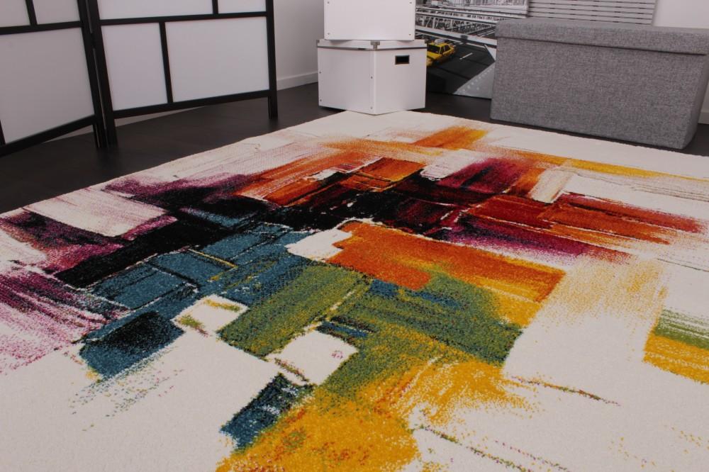 Teppich design bunt  Teppich Wohnzimmer Modern Grau: Sonstige, teppiche & teppichböden ...