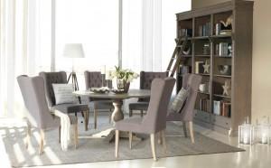 Oliver - Matgrupp med 4 stolar