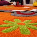 Barnmatta – Fjäril Orange