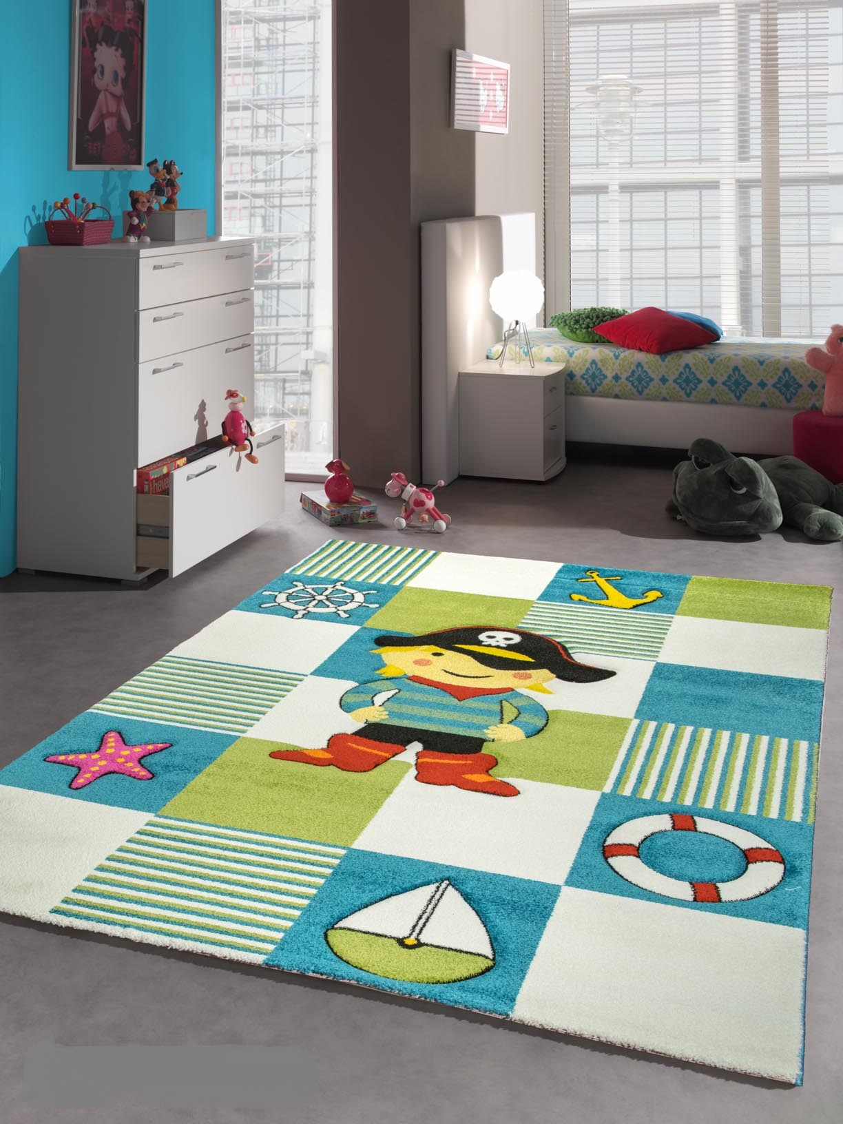 Hem produkter mattor barnmattor piraten barnmatta images frompo - Tapis enfant turquoise ...