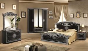 San Marino SvartSilver - Sängpaket