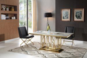 thema-guld-matbord-inkl-madison-guld-stol