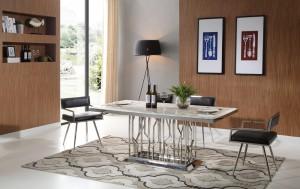 thema-silver-matbord-inkl-leah-svart-stol