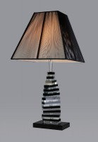 Trappstege SvartKlar Kristall – Bordslampa
