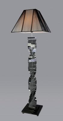 Trappstege SvartKlar Kristall – Golvlampa