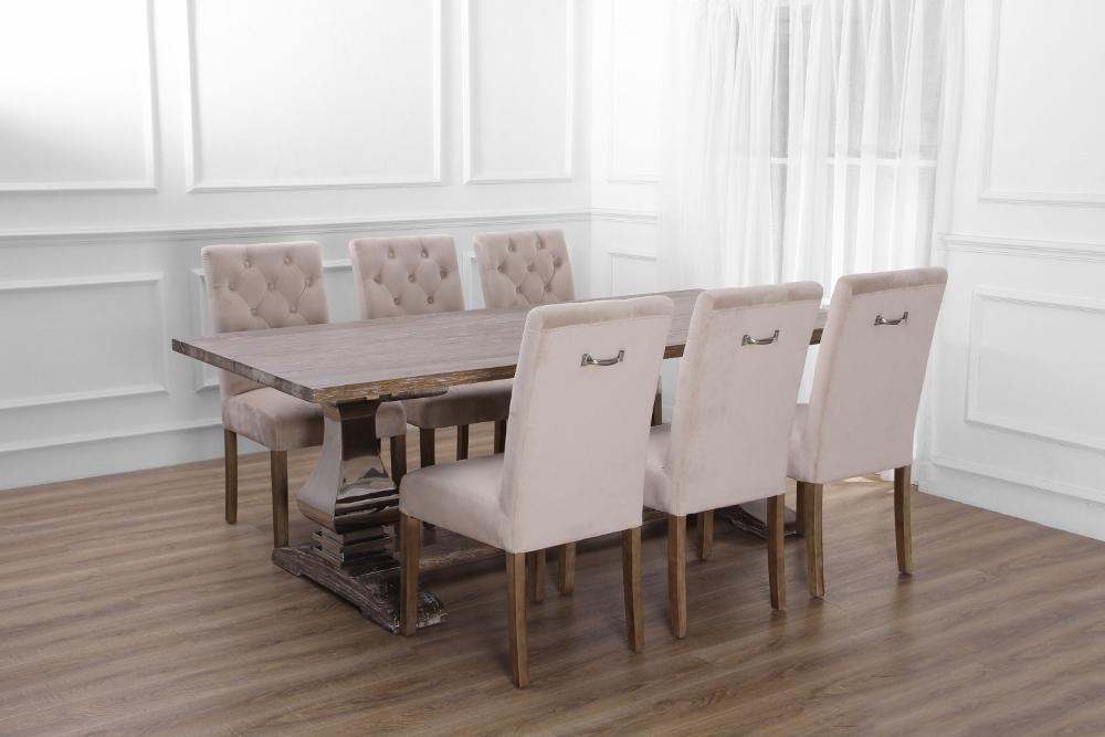 Klädda stolar till matbord