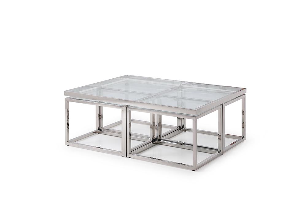 Fräscha Carmen Silver 120 - Soffbord - Kungsmöbler MX-49