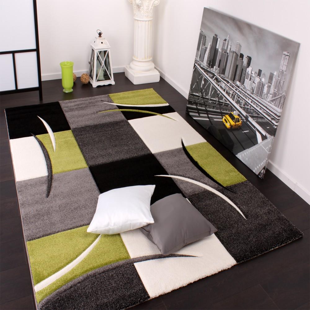 Teppich wohnzimmer modern: teppich wohnzimmer modern wellen muster ...