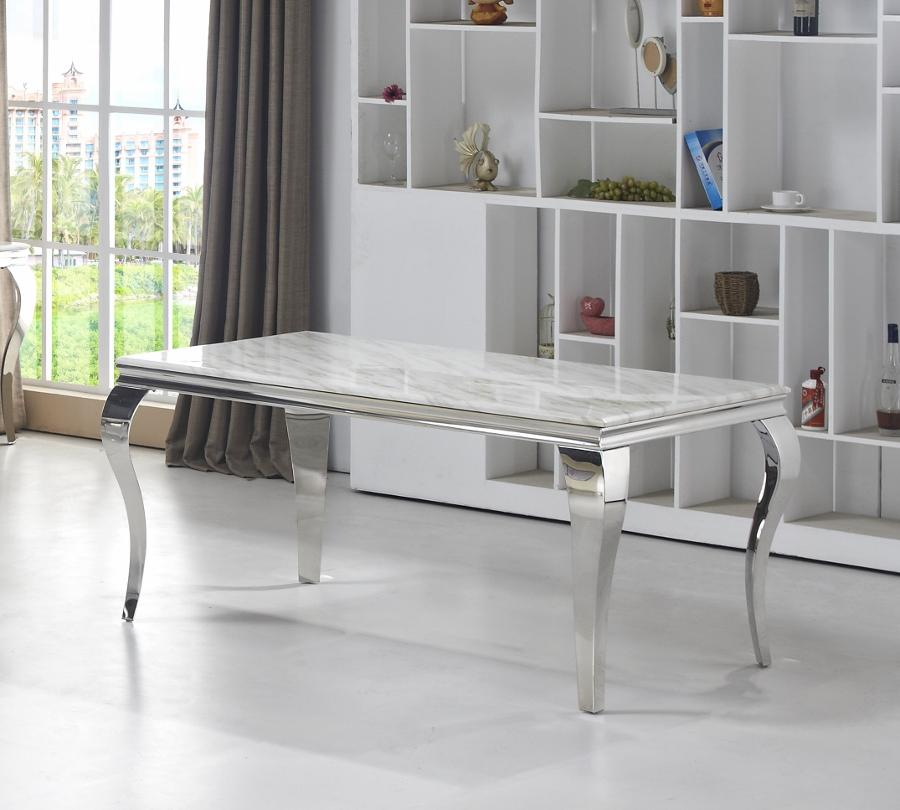 Silver Marmor Matbord Kungsmöbler